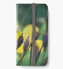 slug dancing on a poppy iPhone Wallet/Case/Skin