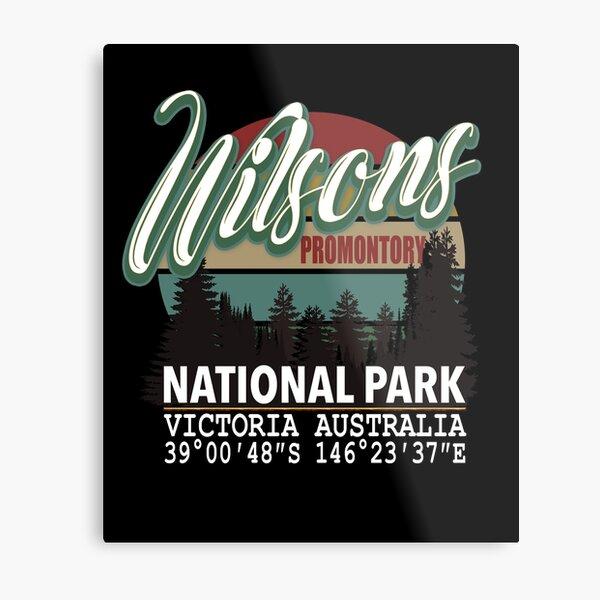 Wilsons Promontory National Park with GPS Location Tasmania Australia Metal Print