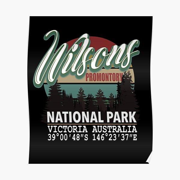 Wilsons Promontory National Park with GPS Location Tasmania Australia Poster