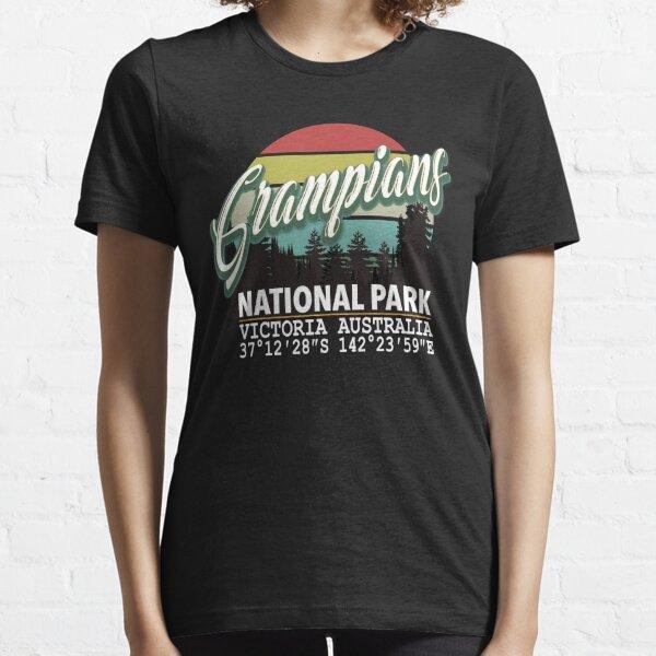 Classis Vintage Grampians National Park  with GPS Location Victoria Australia Essential T-Shirt