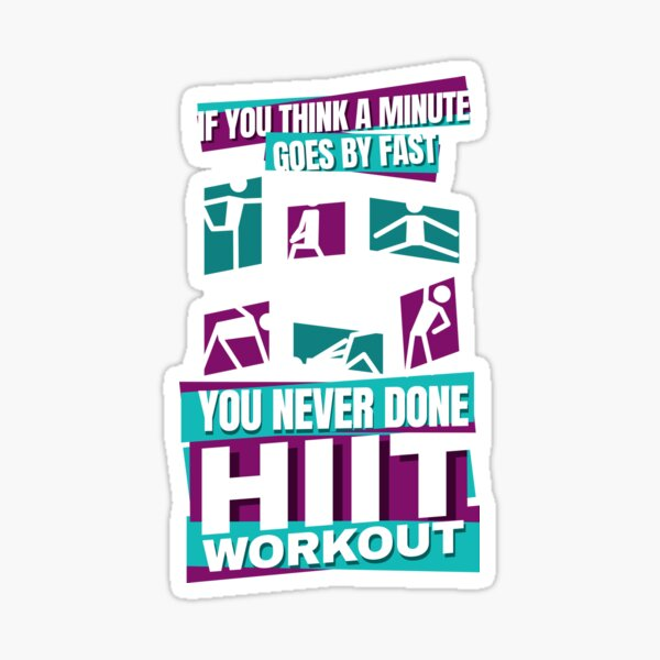 HIIT High intensity interval training Sticker