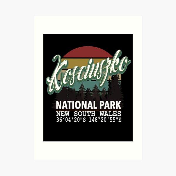 Classis Vintage Kosciuszko National Park  with GPS Location New South Wales Australia Art Print