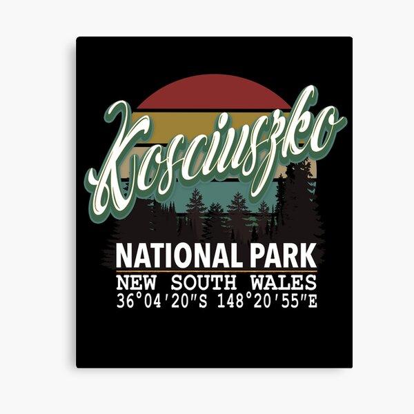 Classis Vintage Kosciuszko National Park  with GPS Location New South Wales Australia Canvas Print