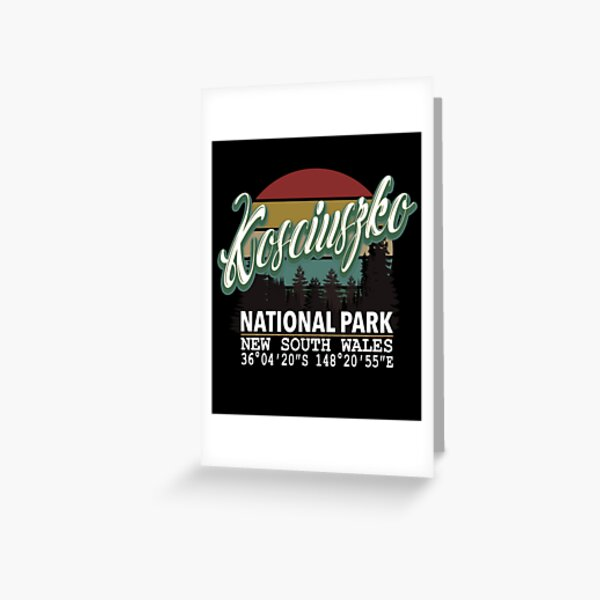 Classis Vintage Kosciuszko National Park  with GPS Location New South Wales Australia Greeting Card