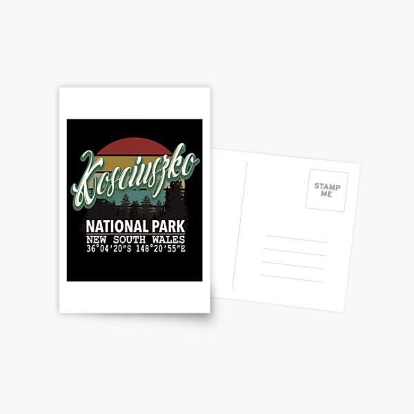 Classis Vintage Kosciuszko National Park  with GPS Location New South Wales Australia Postcard