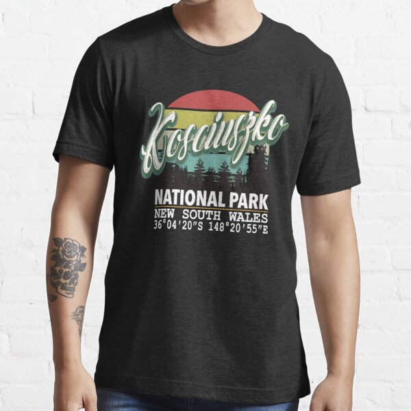 Classis Vintage Kosciuszko National Park  with GPS Location New South Wales Australia Essential T-Shirt