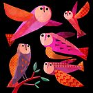 Owls in the dark by Gareth Lucas