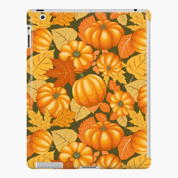 Pumpkins and Autumn Leaves Party iPad Snap Case