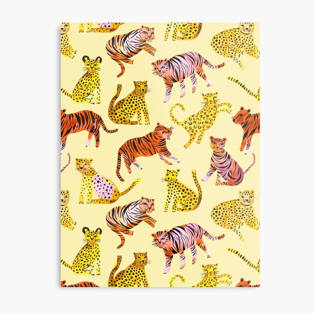Tigers and Leopards Africa Savannah Metal Print