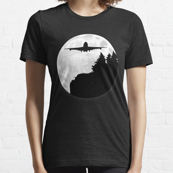 747 Jumbo Jet Under The Moon Essential T-Shirt