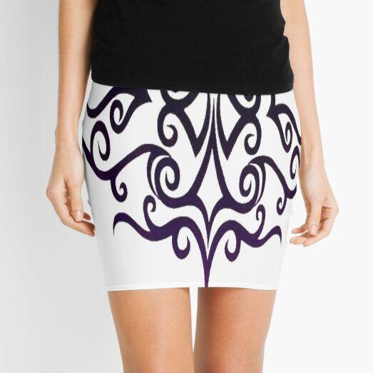 #Decoration, #design, #spiral, #pattern, ornate, illustration, element, curve Mini Skirt