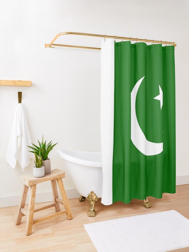 Alternate view of Pakistan Shower Curtain
