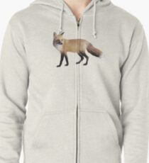Fox on Sage Zipped Hoodie