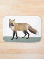 Fox on Sage Bath Mat