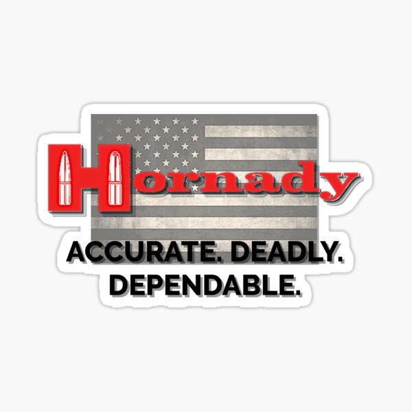 Hornady ammunition American flag graphic design  Sticker