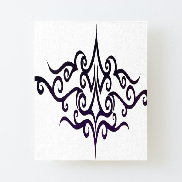 #Decoration, #design, #spiral, #pattern, ornate, illustration, element, curve Canvas Mounted Print