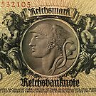 German paper currency vintage 1933... Reichsmark 50 by edsimoneit