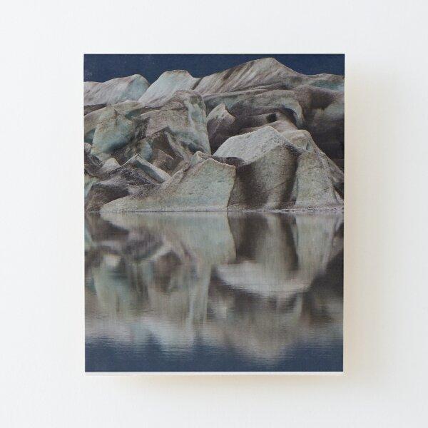 Glacier Face Wood Mounted Print