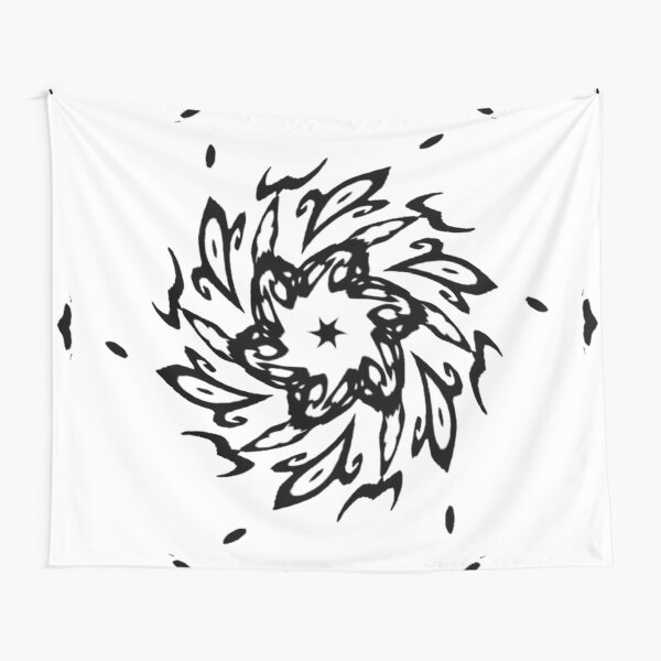 #Design, #illustration, #art, #abstract, shape, nature, leaf, silhouette, outlined, creativity Tapestry