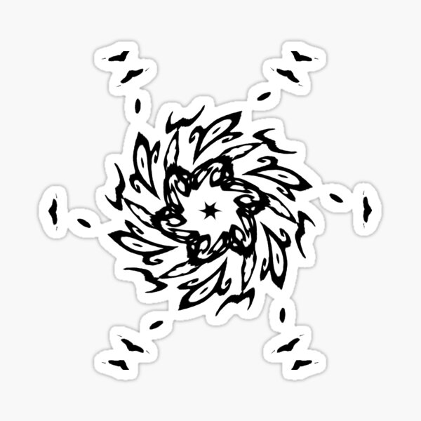 #Design, #illustration, #art, #abstract, shape, nature, leaf, silhouette, outlined, creativity Sticker