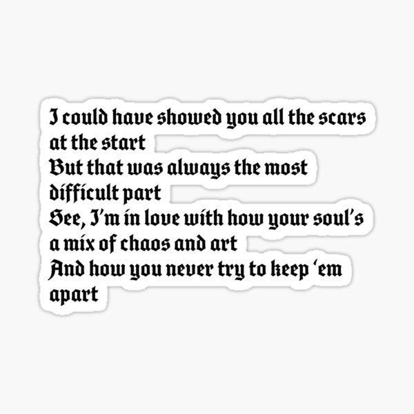 Dermot Kennedy - Outnumbered lyrics Sticker