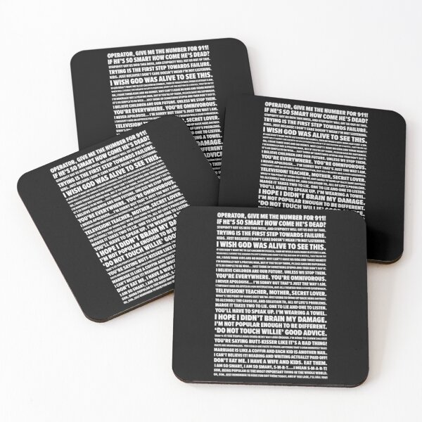 Homer Quotes Coasters (Set of 4)