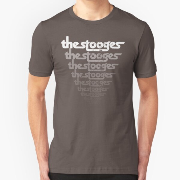 The Stooges (distressed design) Slim Fit T-Shirt