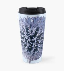 Monochrome - Starry night on the thistle globe Travel Mug
