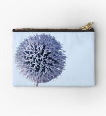 Monochrome - Starry night on the thistle globe Zipper Pouch