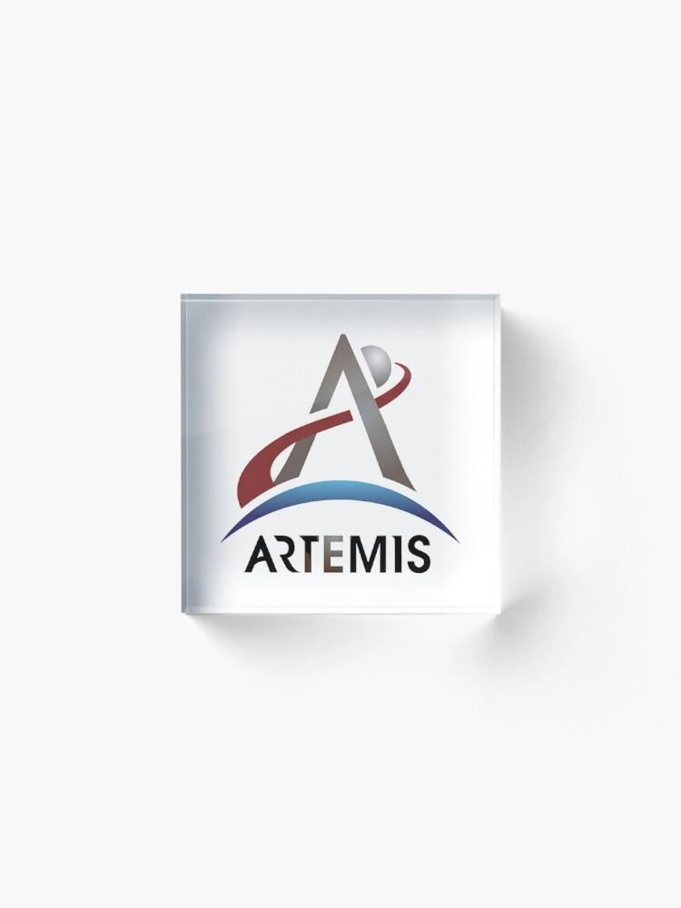 Alternate view of Artemis New NASA Official Logo Acrylic Block