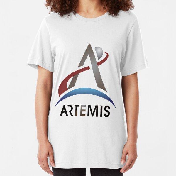 Artemis New NASA Official Logo Slim Fit T-Shirt