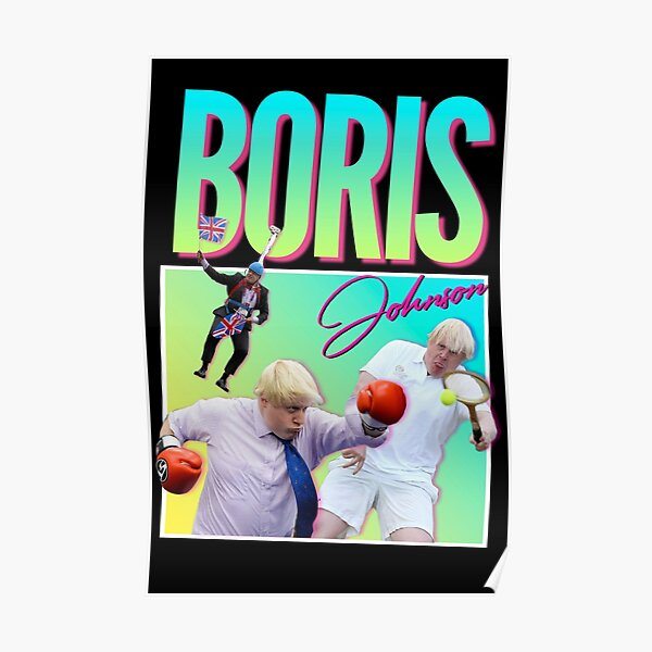 Boris Johnson 90s/80s Aesthetic Retro Poster