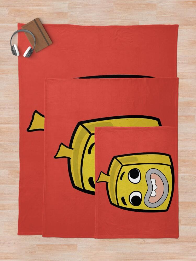 Alternate view of Banana Joe - The Amazing World of Gumball Boxheadz Throw Blanket