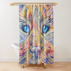 DeepDreamed Shower Curtain
