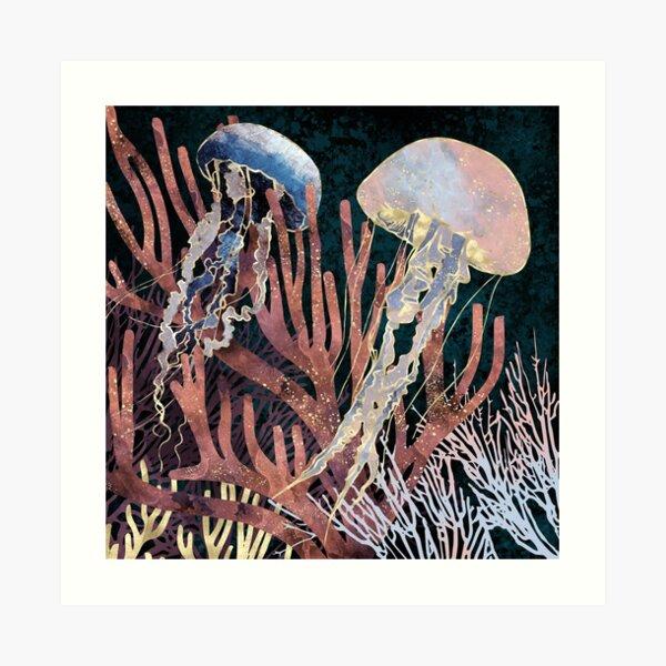 Metallic Coral Art Print