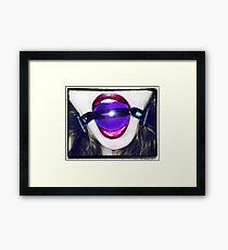 Purple Ball Gag Framed Print