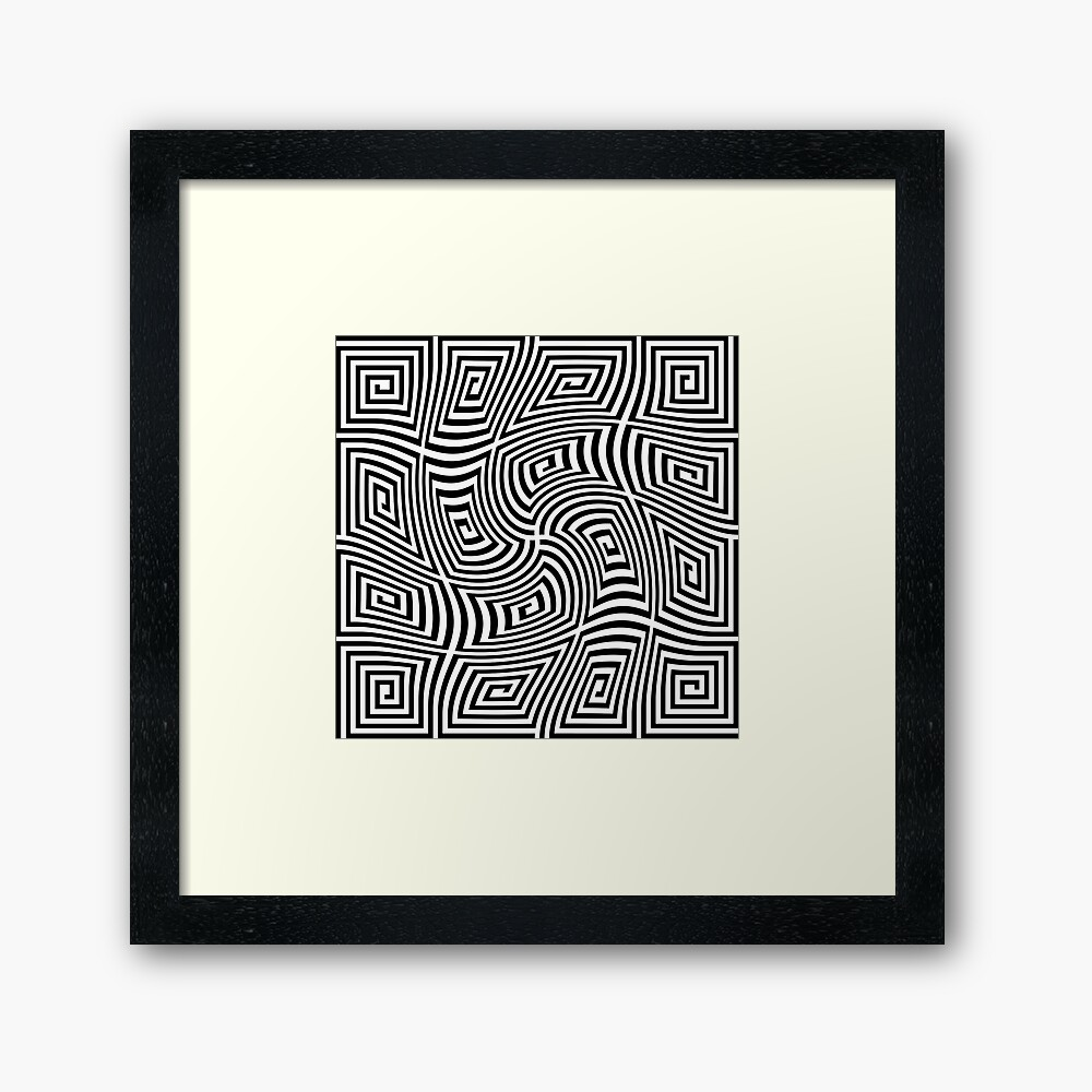 Optical Illusions,  fp,840x830,black,off_white,box20,s,f8f8f8-pad,1000x1000,f8f8f8