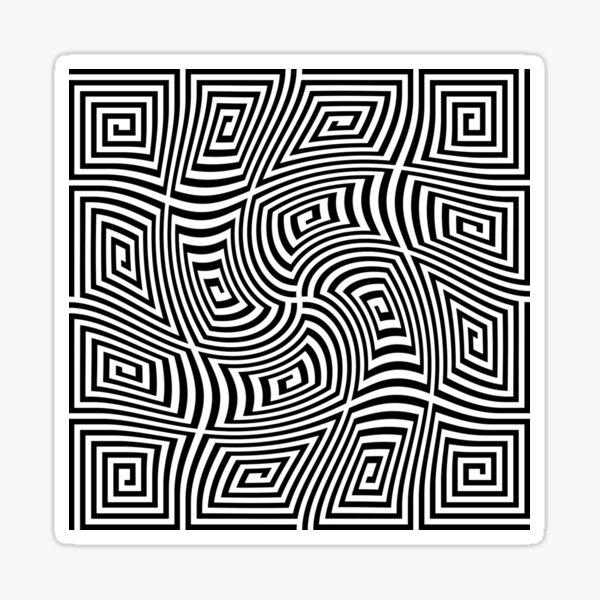 #Optical #illusions, #Visual illusion, Optical #Art Sticker