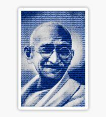 Mahatma Gandhi portrait with blue background  Sticker