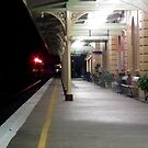 Tamworth Train Station Platform by Bernie Stronner