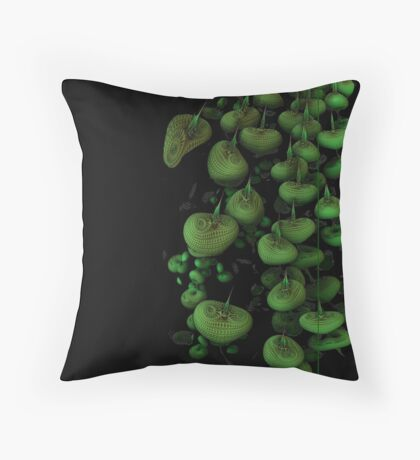 green apples from outer space Throw Pillow