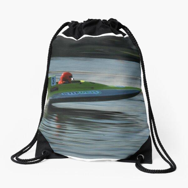 Powerboat Racing at Oulton Broad - GT30 - Ashley Penfold Drawstring Bag