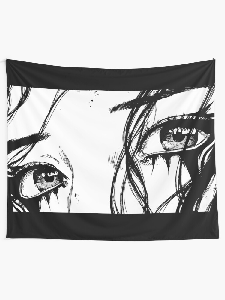 Alternate view of Manga eyes Tapestry