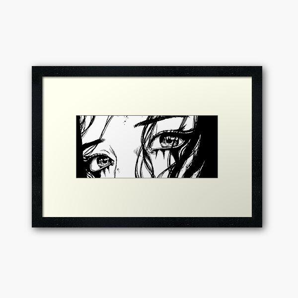 Manga eyes Framed Art Print
