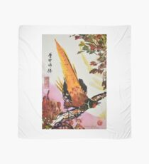 Chinese Pheasant on Branch Scarf