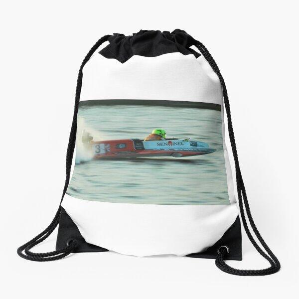 Powerboat Racing at Oulton Broad - OSY400 - Scott Goodings Drawstring Bag