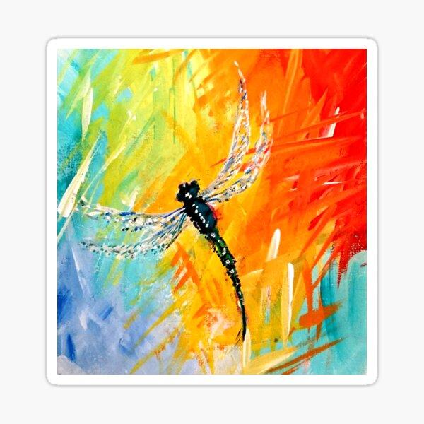 Rainbow Dragonfly  Sticker