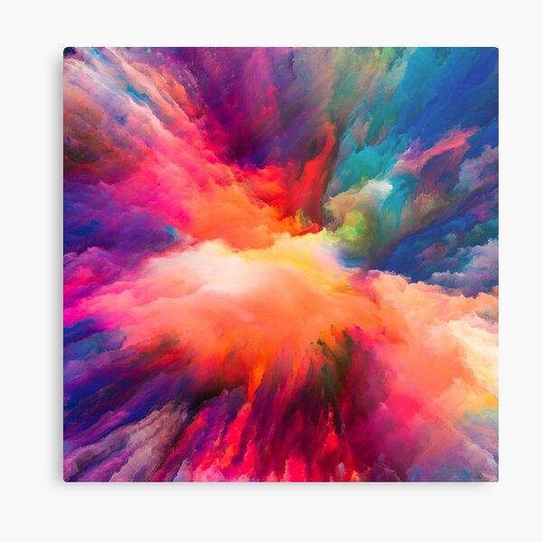 Colour splash with rainbow abstract fine art Metal Print