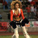 Broncos Cheerleaders in action Part 2 by Carl M. Moore