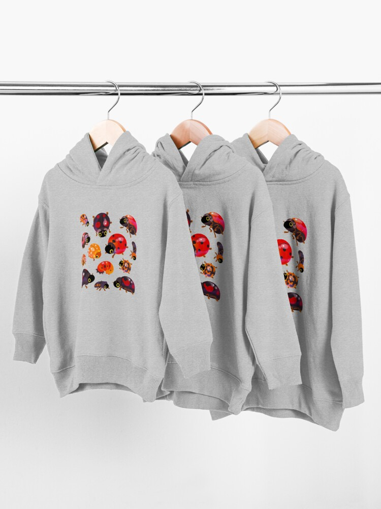 Alternate view of Lady beetles Toddler Pullover Hoodie